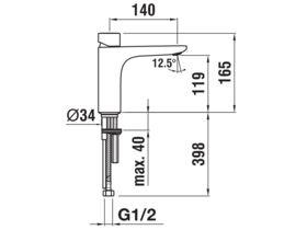 Laufen CityPlus Zero Mid Basin Mixer Chrome (4 Star)
