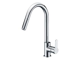 Mizu Soothe Sink Mixer with Pullout Spray Chrome (4 Star)