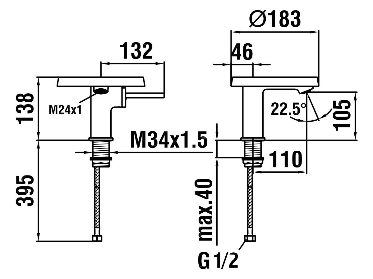 Kartell Disc Basin Mixer Chrome (4 Star)