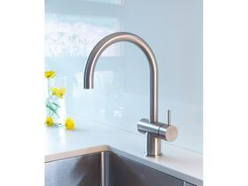 Scala Sink Mixer Large Curved Spout Right Hand 316 Stainless Steel (4 Star)