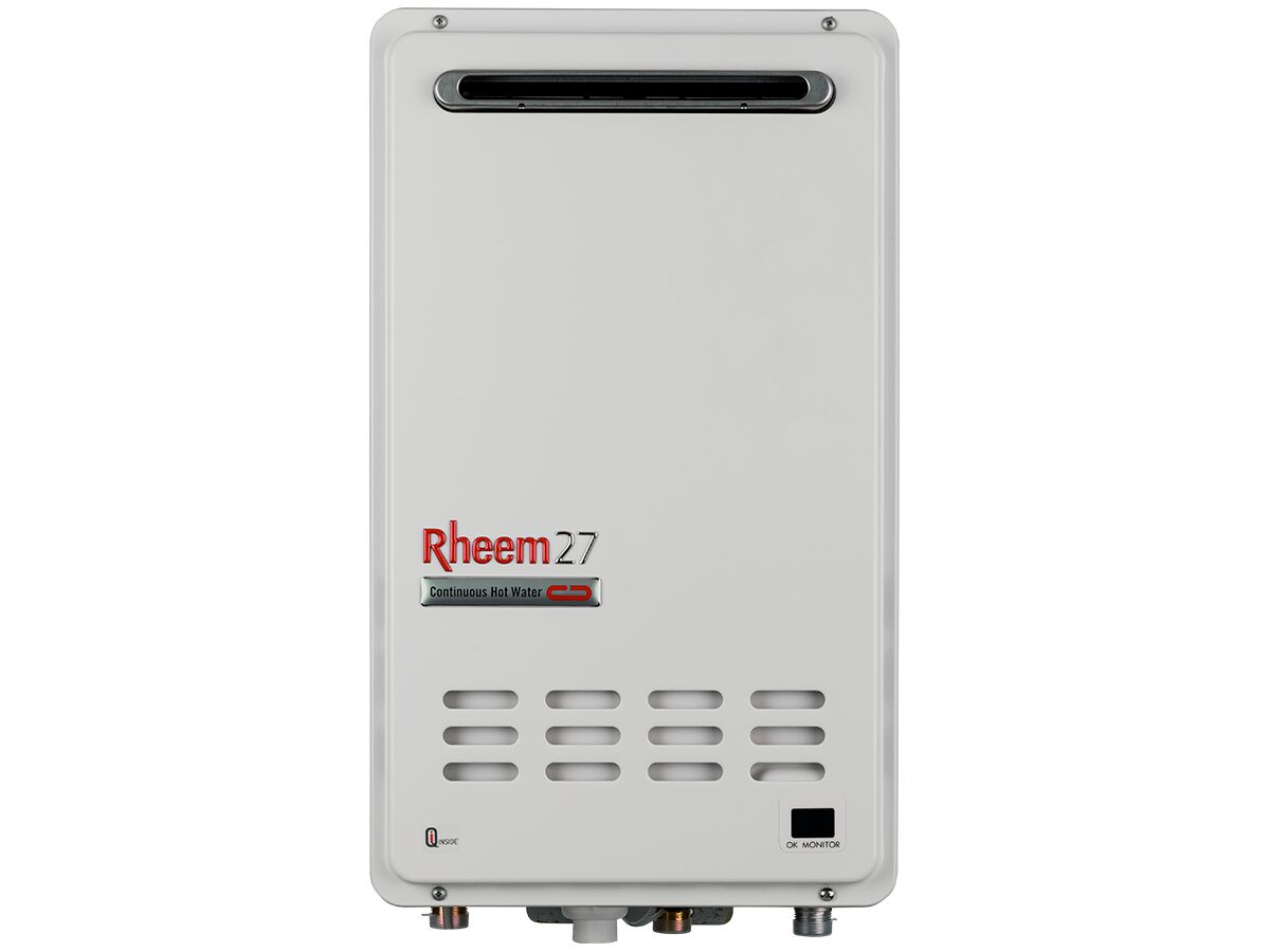 Rheem 27 Continuous Flow External Hot Water Unit Natural Gas (Frost) 6 Star
