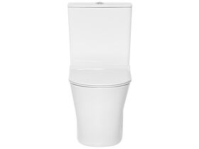 American Standard Heron Square Hygiene Rim Back Inlet Close Coupled Back to Wall Toilet Suite with Soft Close Quick Release Seat White (4 Star)