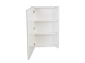 Posh Solus 500mm Mirror Cabinet 1 Door White