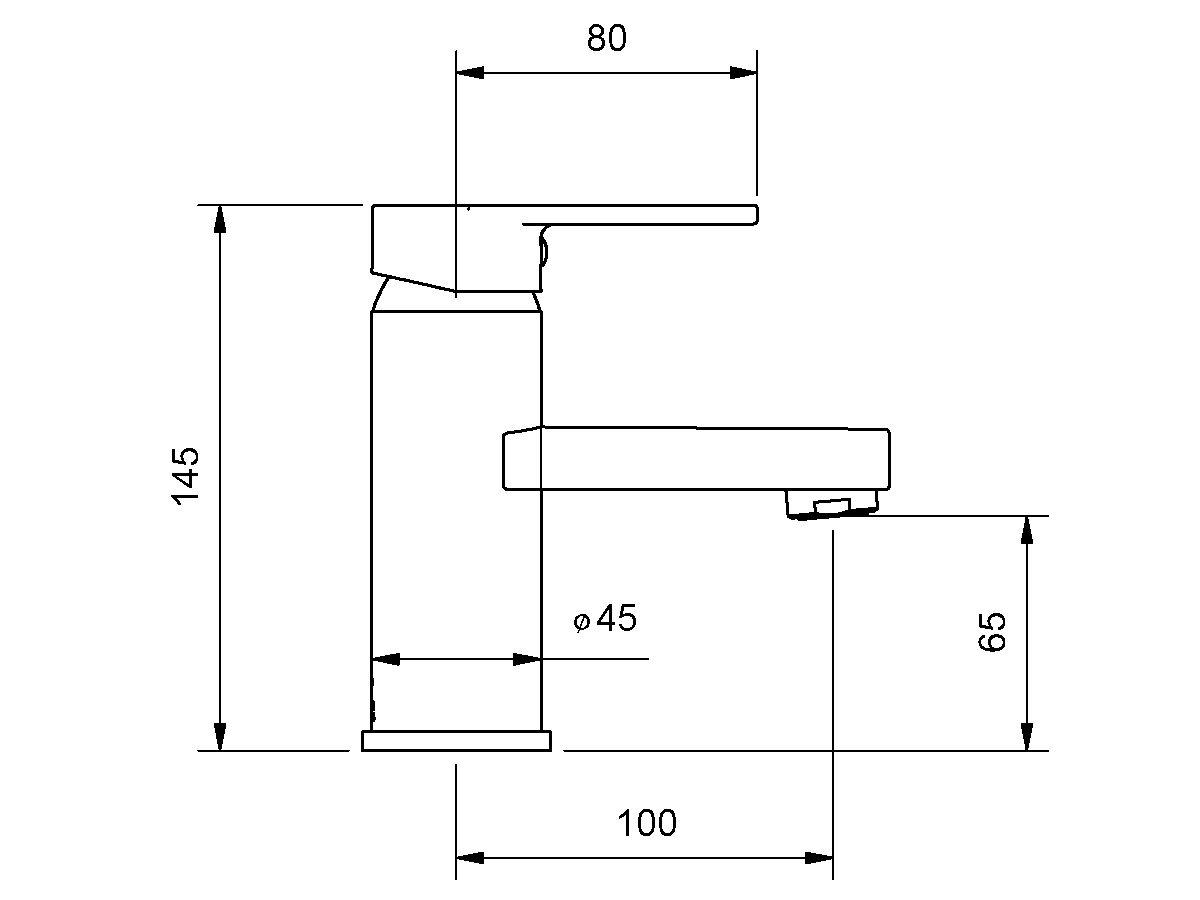 Yeva Basin Mixer 100mm Chrome (4 Star)