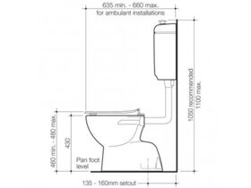 Caroma Care 400 Bottom Inlet Toilet Suite S Trap with Caravelle Single Flap Seat White (4 Star)