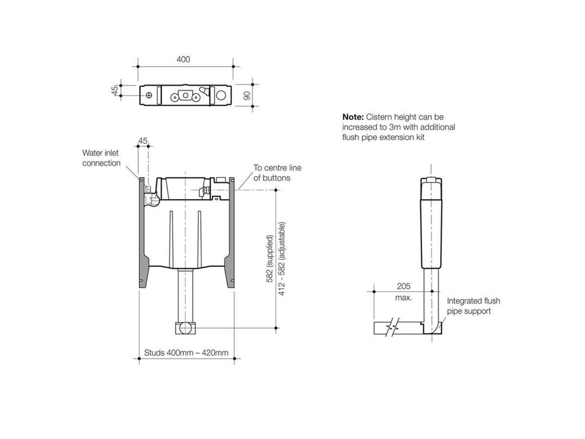 Invisi II Inwall Cistern (4 Star)