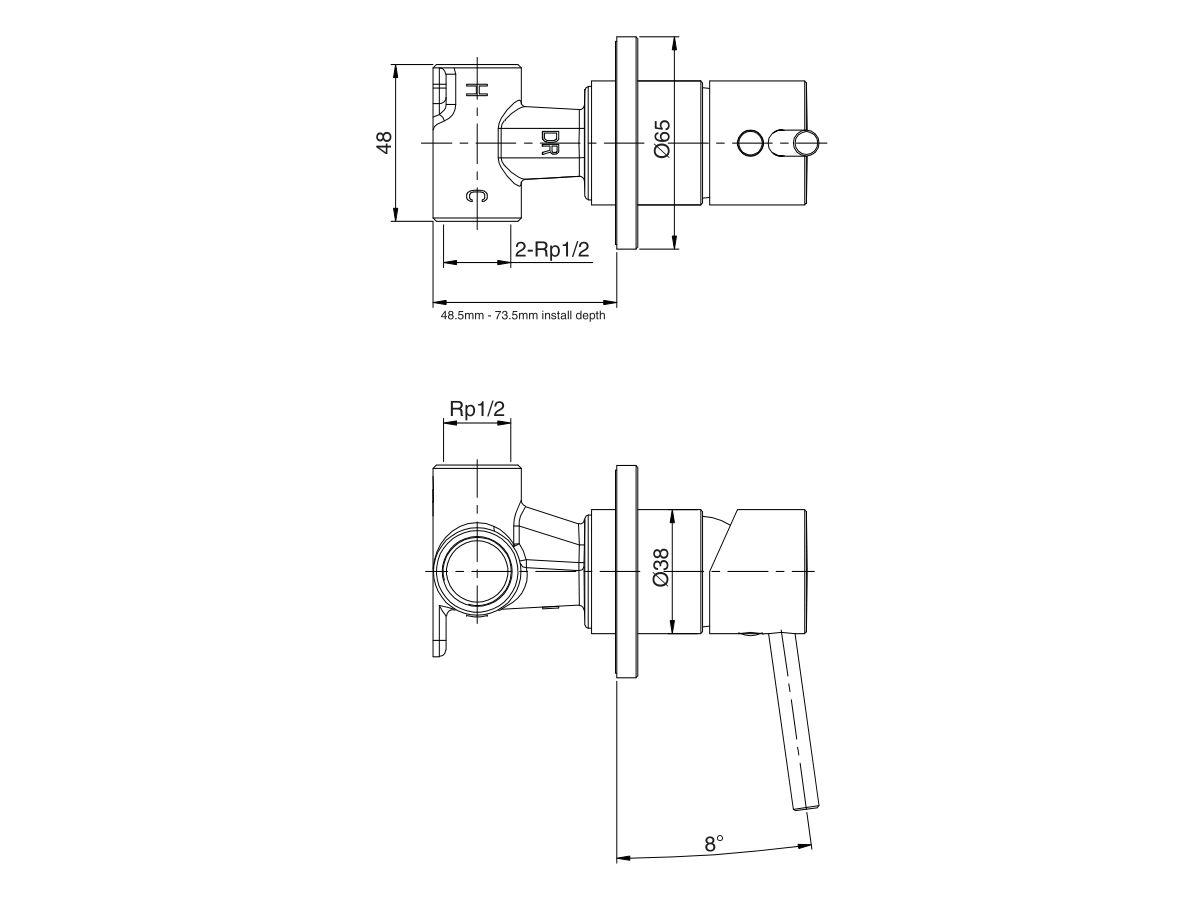 Mizu Drift MK2 Shower Mixer Tap