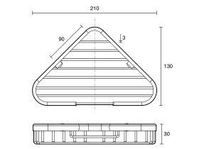 Posh Solus Corner Wire Basket Chrome