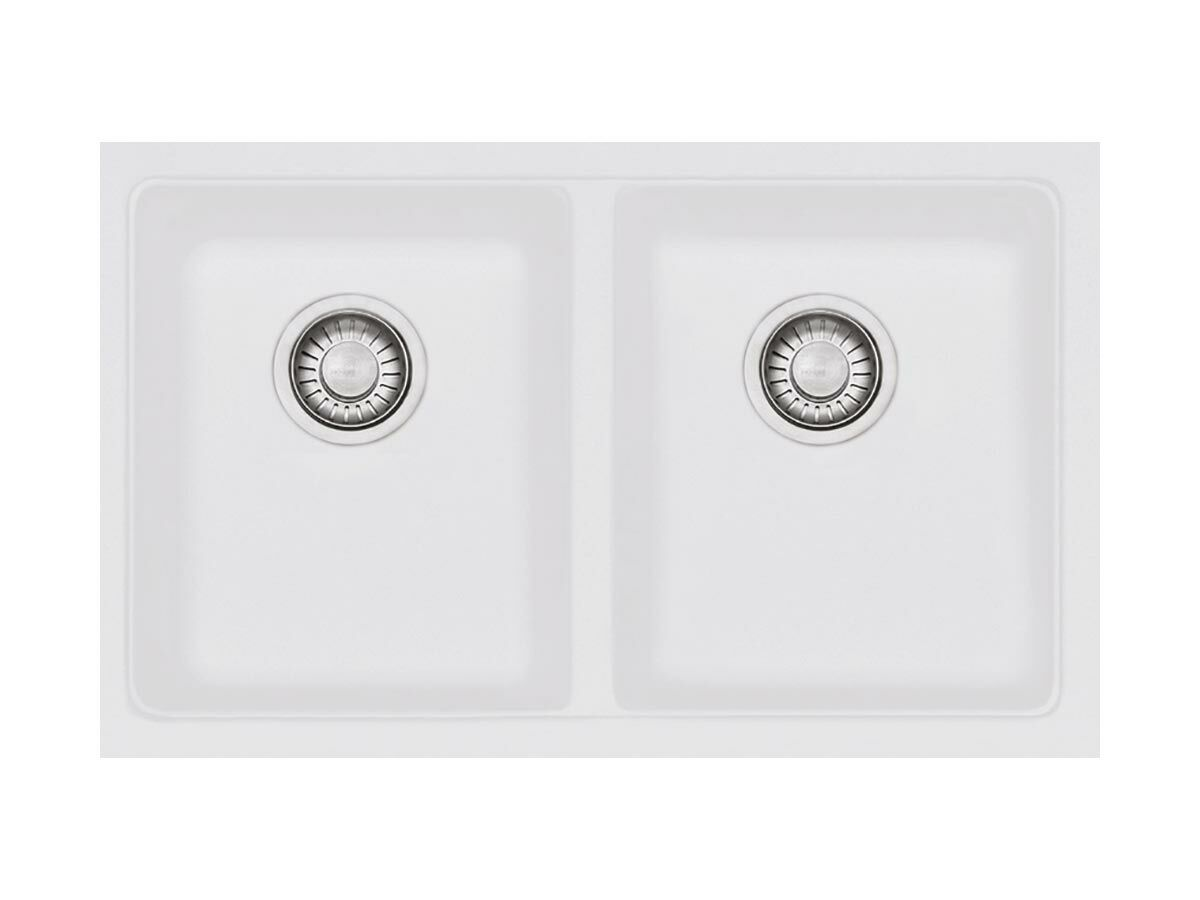 Franke Impact Granite IMG120-35 Double Bowl Undermount Sink Only Polar White