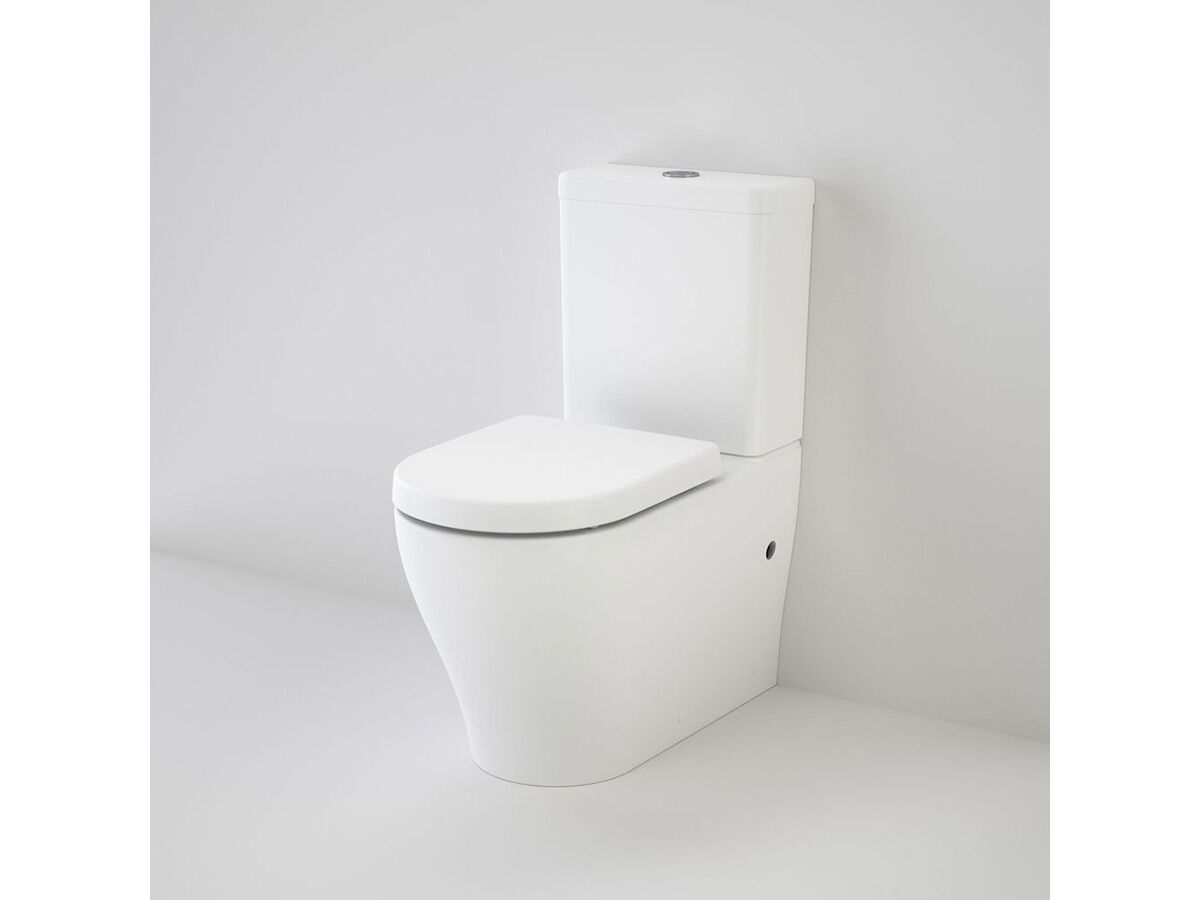Caroma Luna Cleanflush Wall Faced Close Coupled Bottom Inlet Toilet Suite with Soft Close Seat White (4 Star)