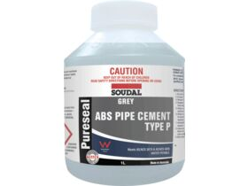 Soudal Pureseal Solvent Cement ABS Grey 1ltr