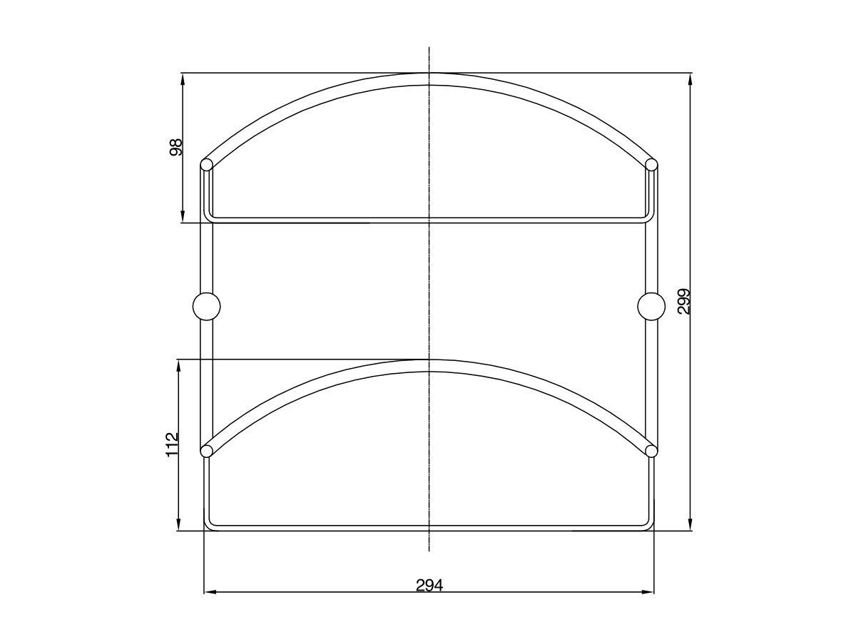 Posh Solus Double Shelf System Chrome