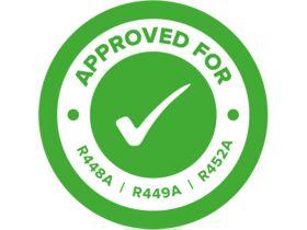 R448A R449A R452A Approval Sticker