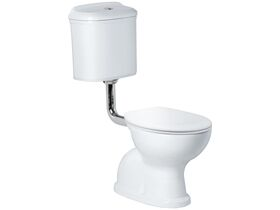 Posh Canterbury Low Level Toilet Suite with Quick Soft Close Seat S Trap White (4 Star)