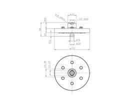Teknobili Plus Brass Showerhead 2 Functions 170mm Chrome (3 Star)