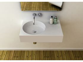 Neo 700 Sold Surface Wall Basin Left Hand Bowl 0 Taphole White