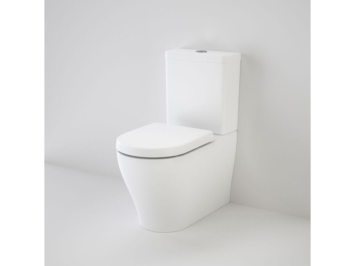 Caroma Luna Wall Faced Close Coupled Toilet Suite Soft Close Seat White (4 Star)