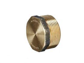 Plug Hex Square Brass 40mm
