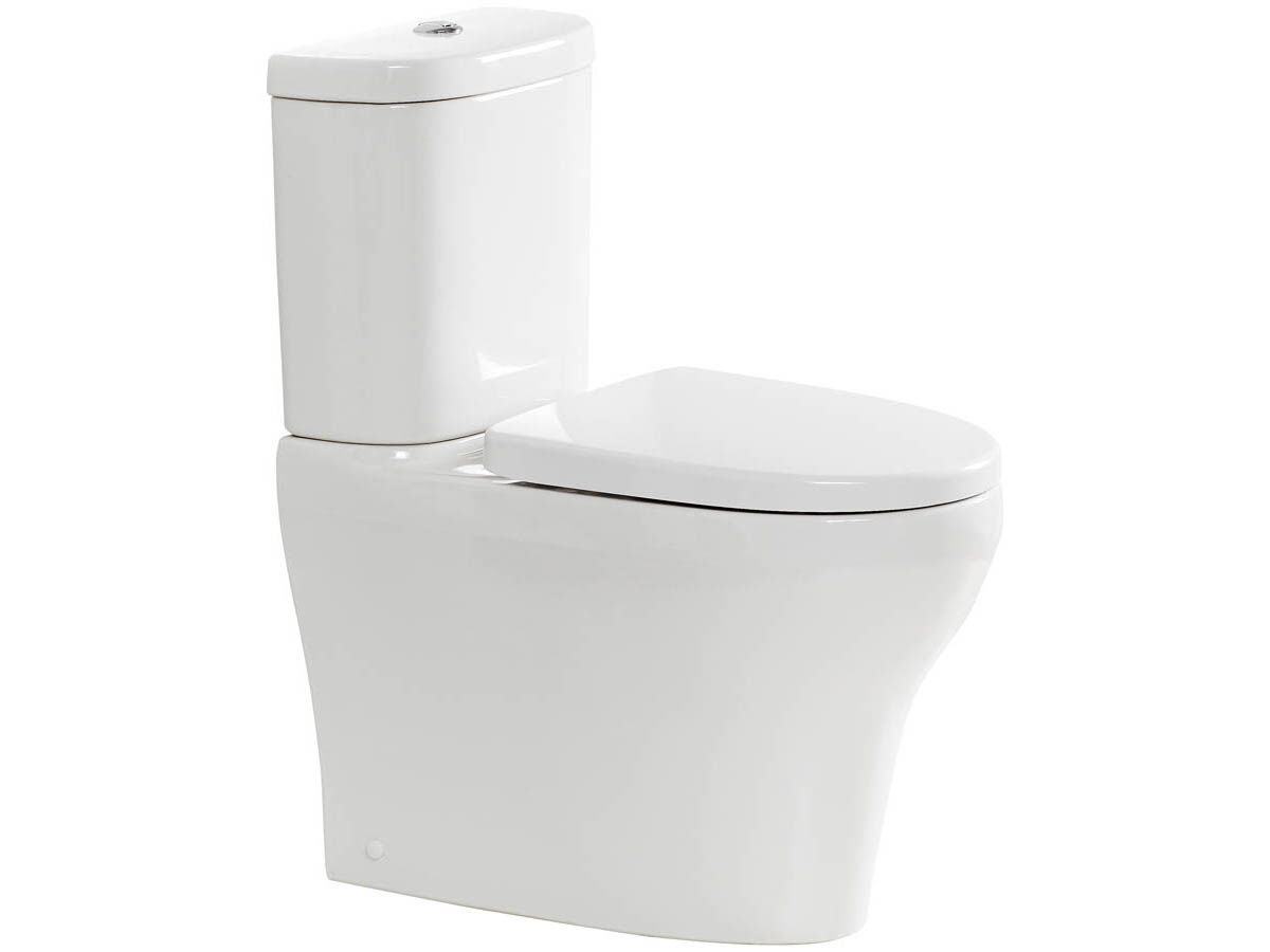 American Standard Cygnet Overheight Close Coupled Back to Wall Back Inlet Toilet Suite with a Soft Close Quick Release White Seat (4 Star)
