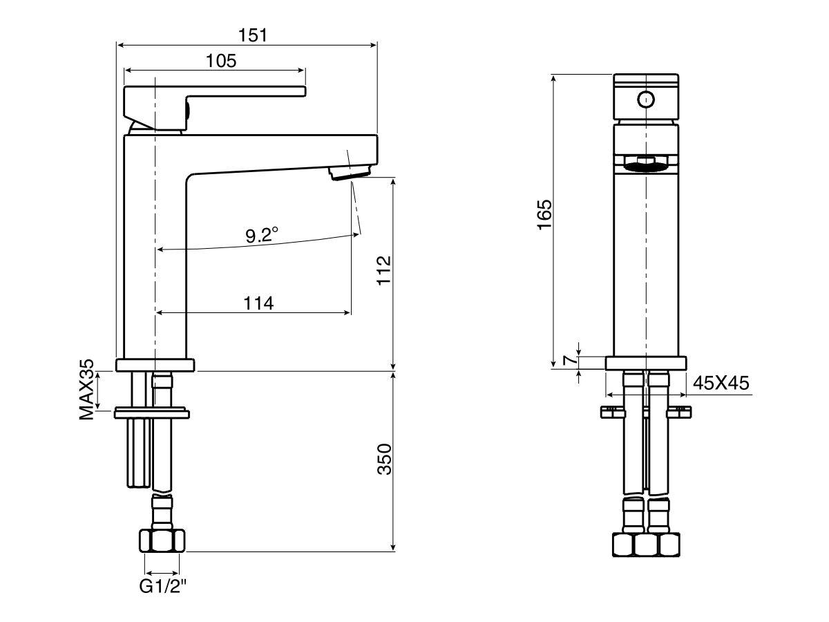 Mizu Bloc MK2 Basin Mixer (4 Star)