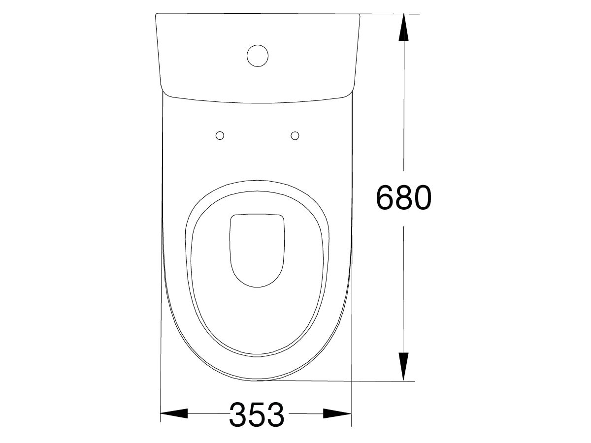 American Standard Cygnet Close Coupled Back to Wall Bottom Inlet Toilet Suite with a Soft Close Quick Release White Seat (4 Star)