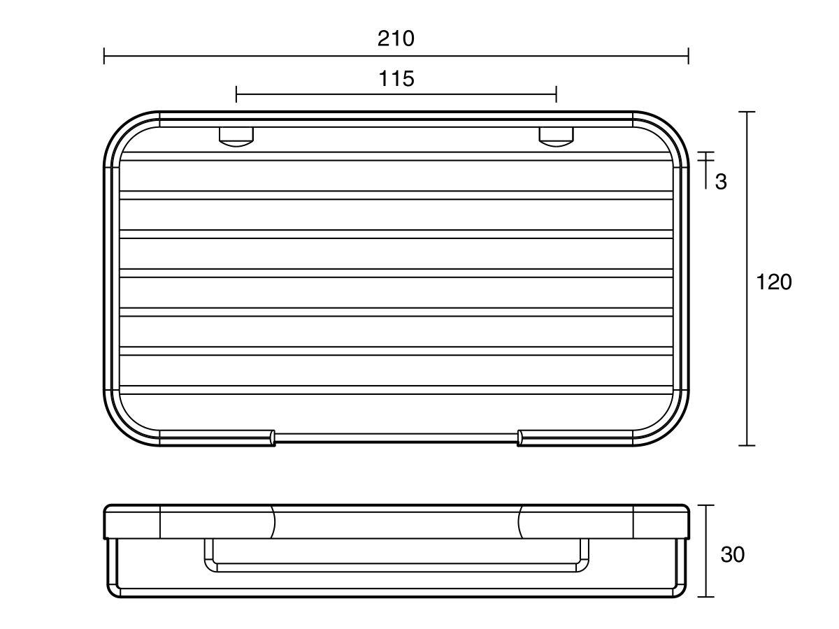 Posh Solus Large Rectangular Wire Soap Basket Chrome