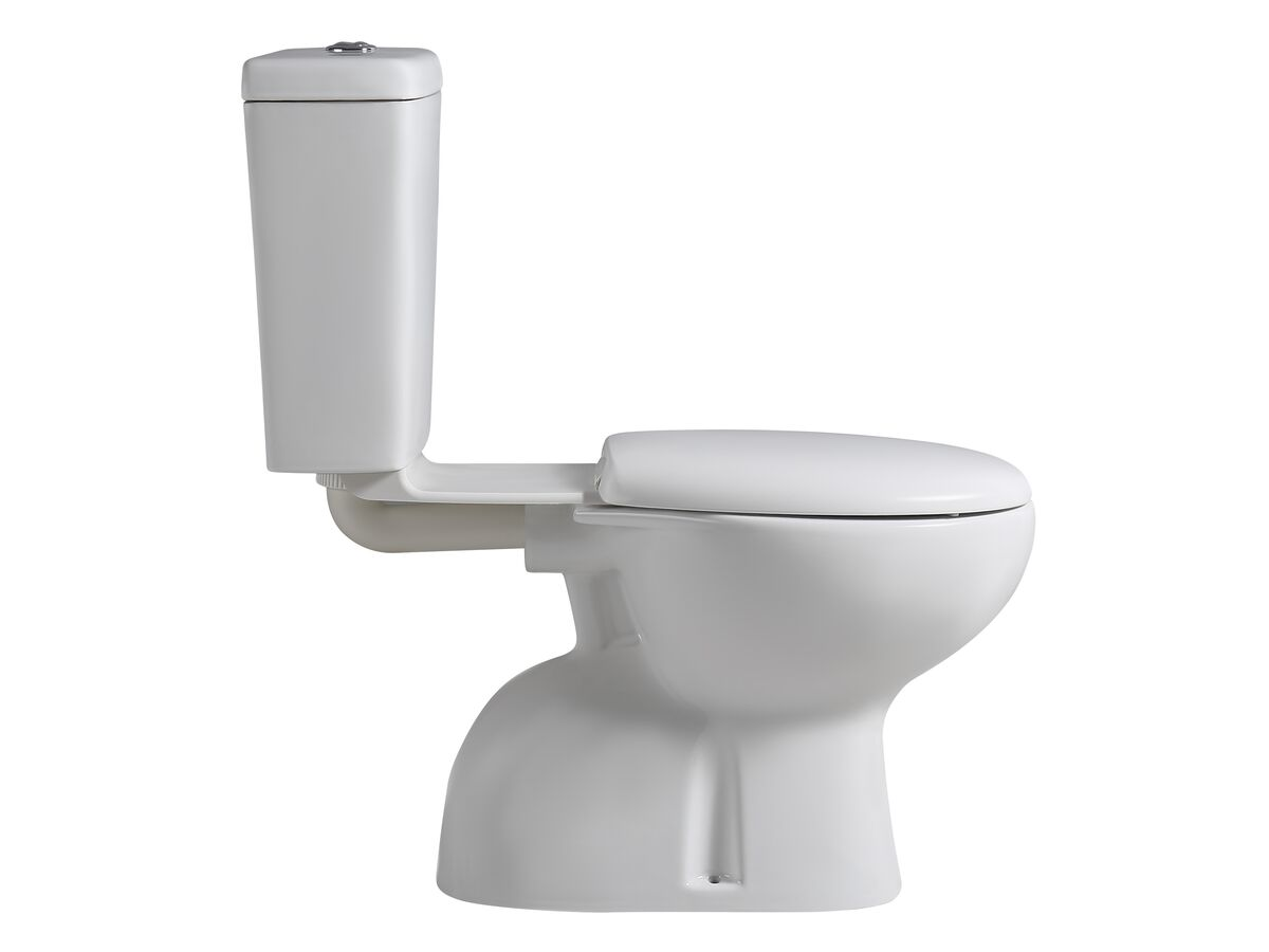 Posh Solus Link Toilet Suite S Trap with Soft Close Seat White/ Chrome (4 Star)