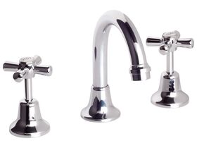 Posh Bristol Basin Set Swivel Chrome (4 Star)