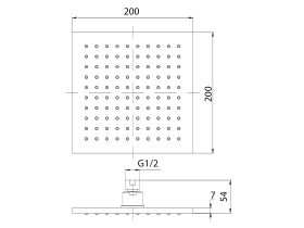Mizu Bloc Overhead Shower 200mm (3 Star)