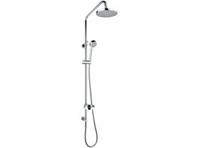 Base Twin Waterrail with 180mm ABS Overhead Chrome (3 Star)
