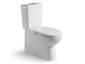 Posh Solus Square Close Coupled Back to Wall Toilet Suite S & P Trap Soft Close Quick Release Seat White / Chrome (4 Star)