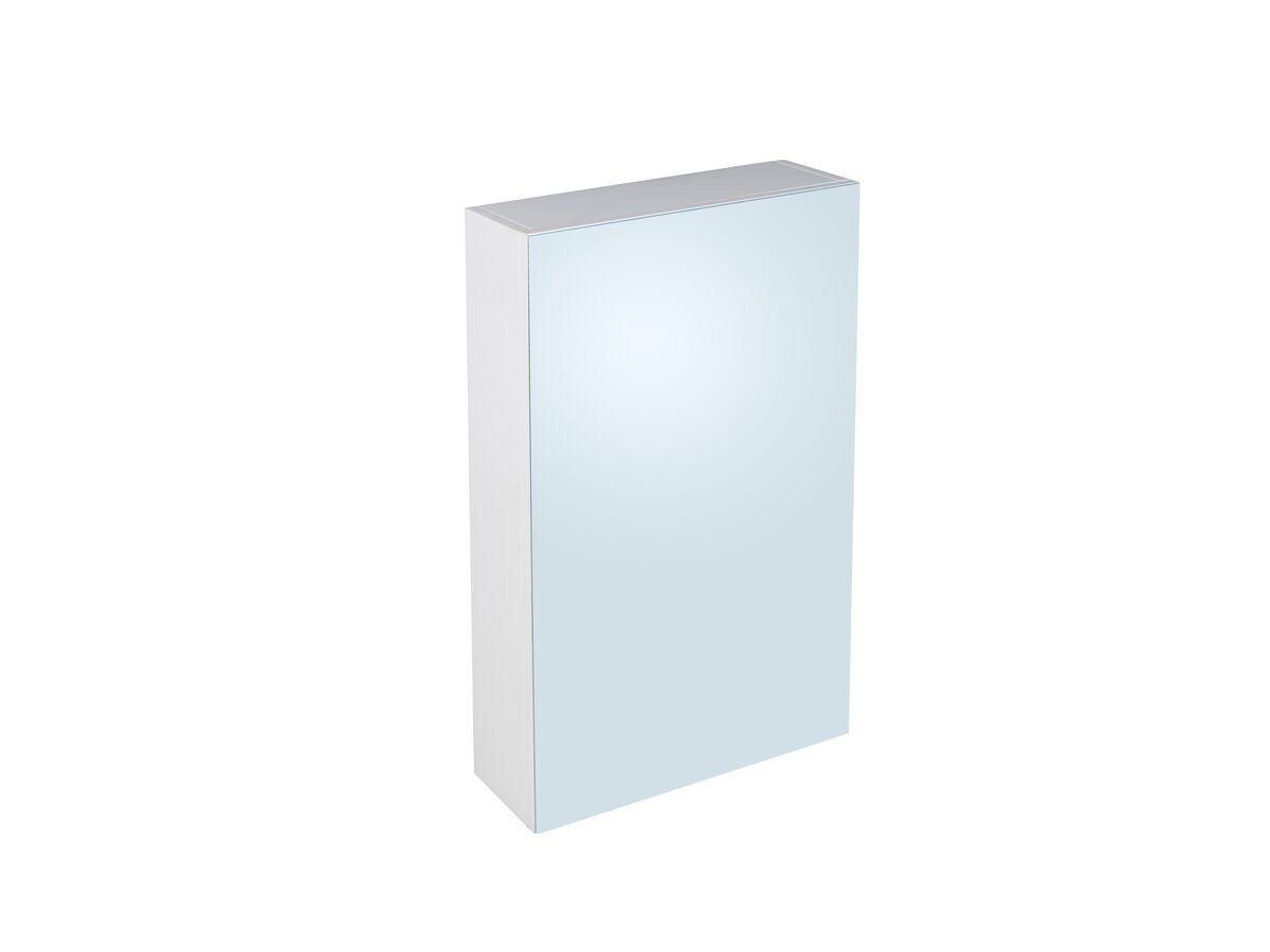 Posh Dominique MKII 1 Door Mirror Cabinet 450mm x 750mm White