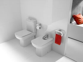 Dama Senso Compact Close Coupled Back To Wall Toilet Suite with Soft Close Seat White/Chrome (4 Star)