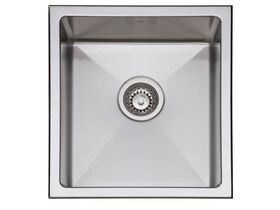 AFA Exact Single Bowl Inset / Undermount Sink No Taphole with Quick-Fit Clips 404mm Stainless Steel