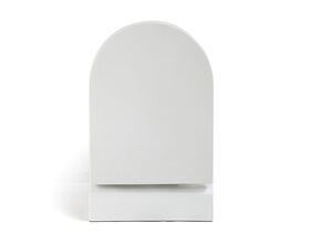 Kado Lux Wall Hung Pan with Quick Release Soft Close Seat White (4 Star)