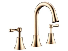 Posh Canterbury Basin Set Lever Swivel Brass Gold (4 Star)