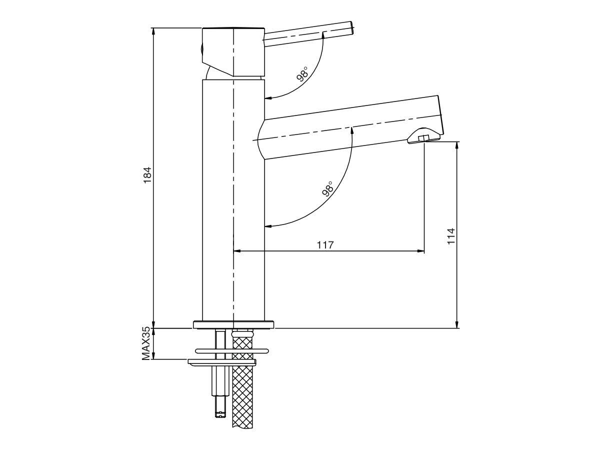 Mizu Drift MK2 Basin Mixer Tap (5 Star)