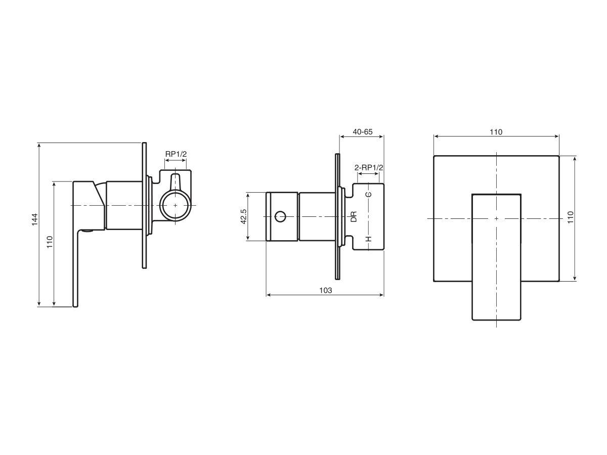 Mizu Bloc MK2 Shower Mixer