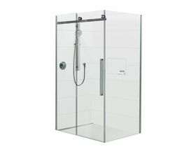 Glacier 2 Sided Shower Tray & Left Hand Sliding Screen