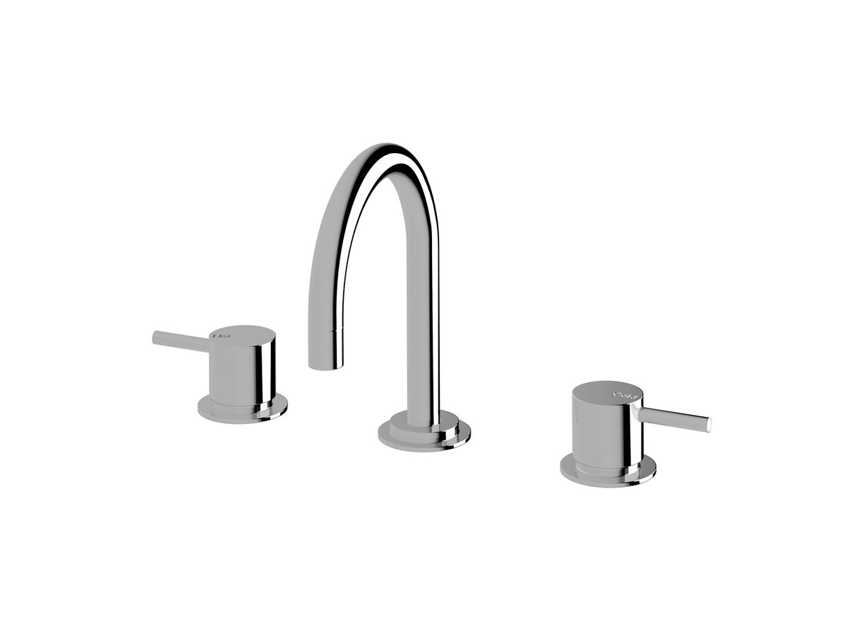 Scala Basin Set Curved Chrome (5 Star)