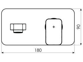 Teknobili Loop Wall Basin Mixer Set Chrome (5 Star)
