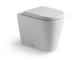 Kado Lux Back To Wall Overheight Pan with Quick Release Soft Close Seat White (4 Star)