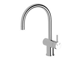 Scala Mini Sink Mixer Large Curved Right Hand Chrome (5 Star)