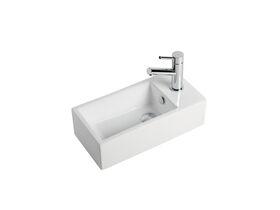 Posh Dominique Mini Wall Basin 485mm x 240mm White