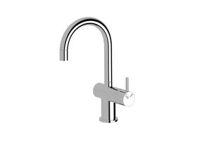 Scala Mini Basin / Sink Mixer Small Curved Right Hand Chrome (5 Star)