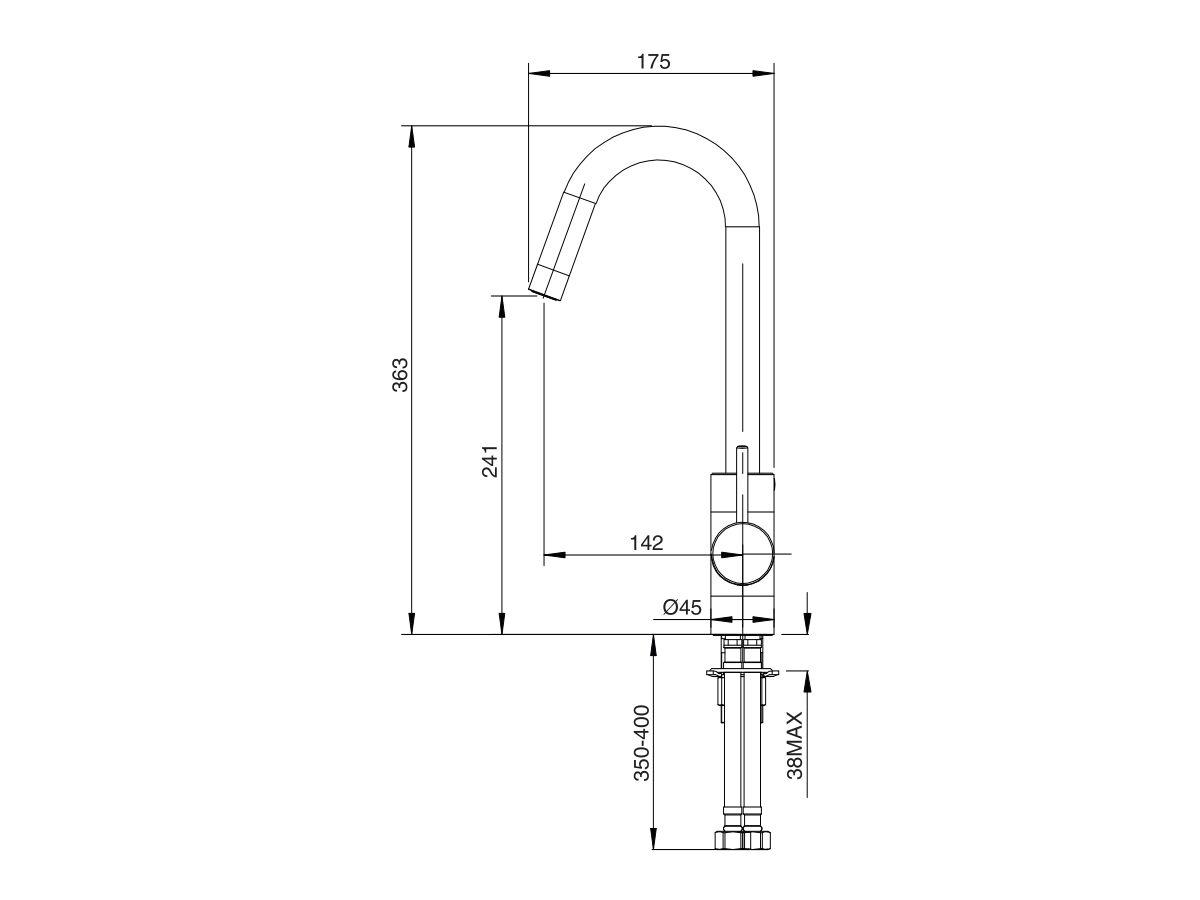 Mizu Drift MK2 Gooseneck Sink Mixer Tap (4 Star)