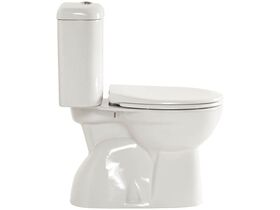 American Standard Heron Round Close Coupled Toilet Suite (S Trap) with Soft Close Quick Release White (4 Star)
