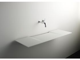 Linea Single Washplane Solid Surface White