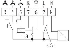 KLR-E 7203 Eberle Air Conditioner Thermostat 240V