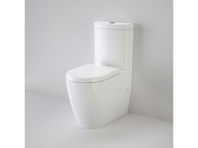 Caroma Forma Close Coupled Back To Wall Bottom Inlet Over Height Rimless Toilet Suite with Soft Close Quick Release Seat White (4 Star)